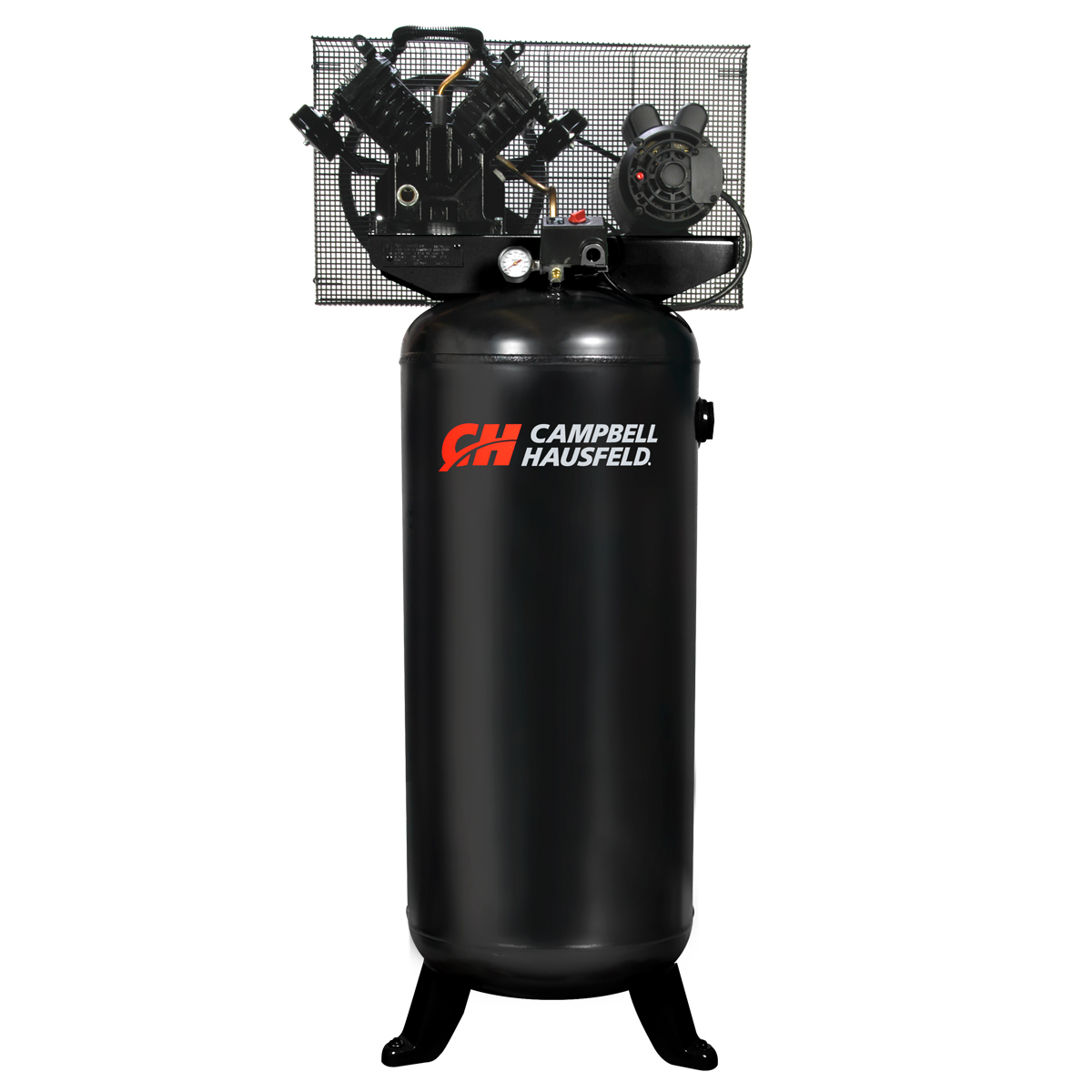 Campbel Hausfeld Air Compressor, 60-Gallon Vertical Single-Stage 16CFM 5HP 208-230V 1PH (CE4101) product image center