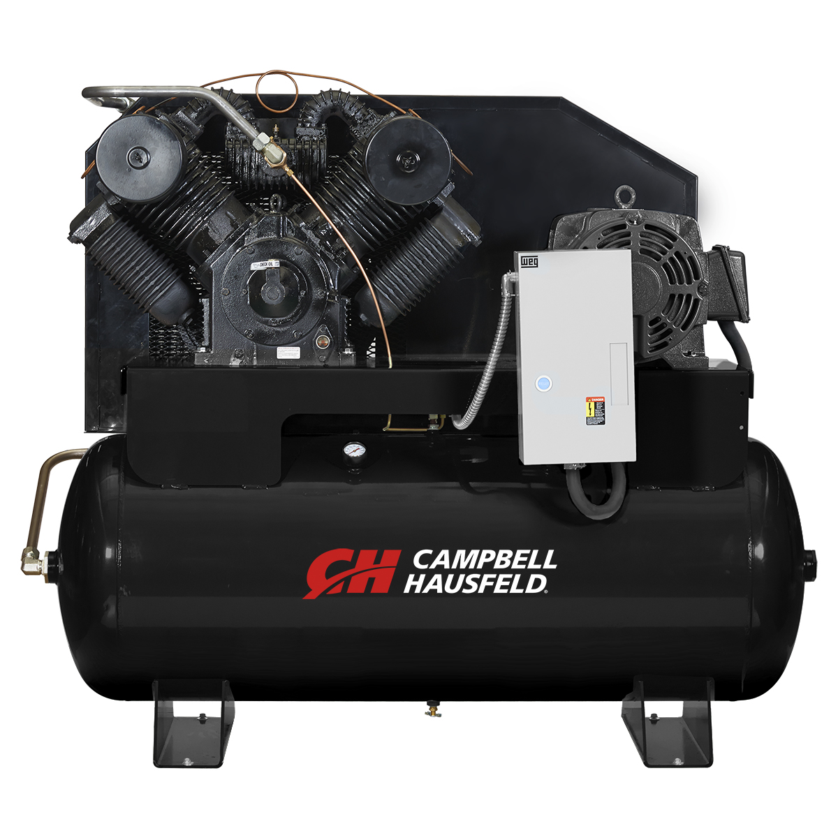 Air Compressor, 120-Gallon Horizontal Two-Stage 87CFM 25HP 208-230/460V 3PH (CE9004)