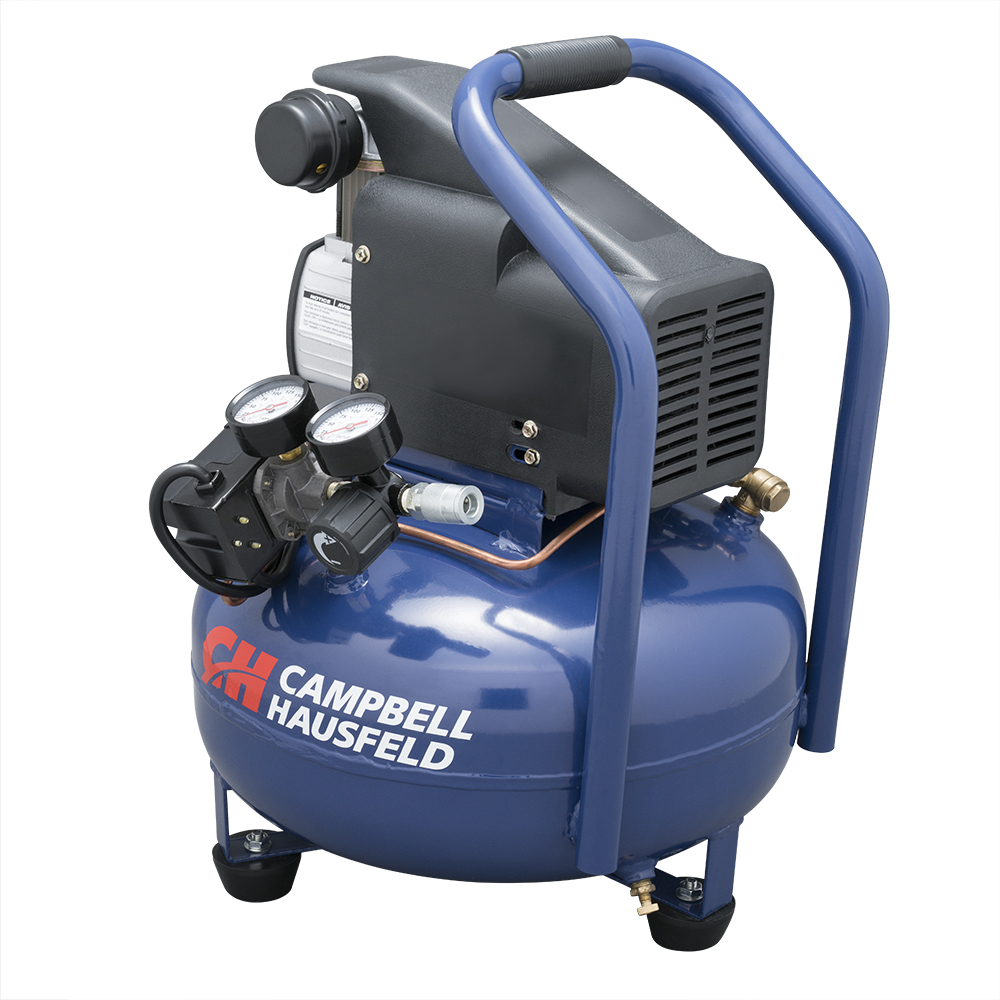 Air Compressor, 6-Gallon Pancake Oilless 2.5CFM 0.8HP 120V 7A 1PH (HM750000AV)