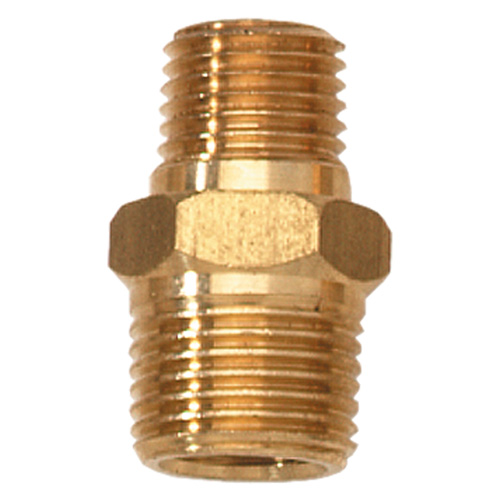 "Campbell Hausfeld 1/4"" Male NPT-3/8"" Male NPT Adapter (PA111100AV) product image center"