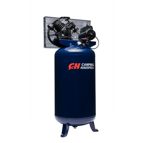 Air Compressor, 80-Gallon Vertical Single-Stage 16CFM 5HP 208-230V 1PH (TQ3104)