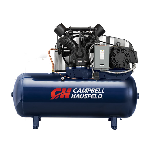 Air Compressor, 120-Gallon Horizontal Two-Stage 52.4CFM 15HP 208-230/460V 3PH (TX2116)