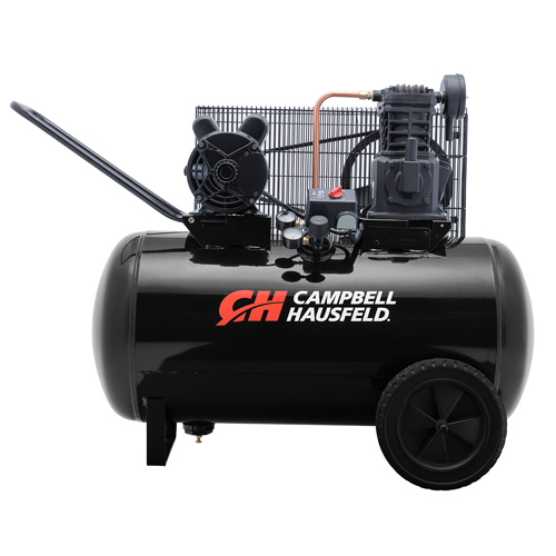 Air Compressor, 30-Gallon Horizontal Portable Single-Stage 10.2CFM 3.7HP 208-230V 1PH (VT6104)