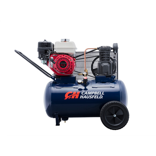 Air Compressor, 20-Gallon Horizontal Portable Single-Stage 10.2CFM GX160 Honda (VT6171)