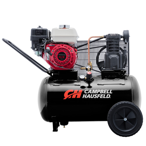 Air Compressor, 20-Gallon Horizontal Portable Single-Stage 10.2CFM GX160 Honda (VT6171X)