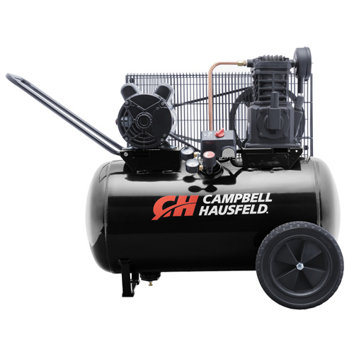 Air Compressor, 20-Gallon Horizontal Portable Single-Stage 10.2CFM 3.7HP 208-230V 1PH (VT6182)