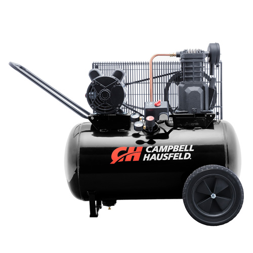 Air Compressor, 20-Gallon Horizontal Portable Single-Stage 5.5CFM 2HP 120/240V 1PH (VT6183)