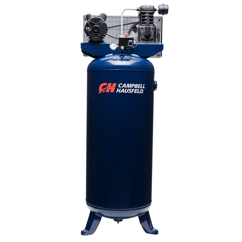 Air Compressor, 60-Gallon Vertical Single-Stage 10.2CFM 3.7HP 208-230V 1PH (VT6195)
