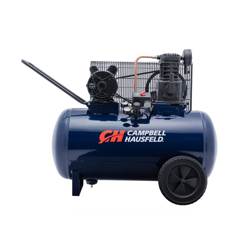 Air Compressor, 30-Gallon Horizontal Portable Single-Stage 10.2CFM 3.7HP 208-230V 1PH (VT6271)