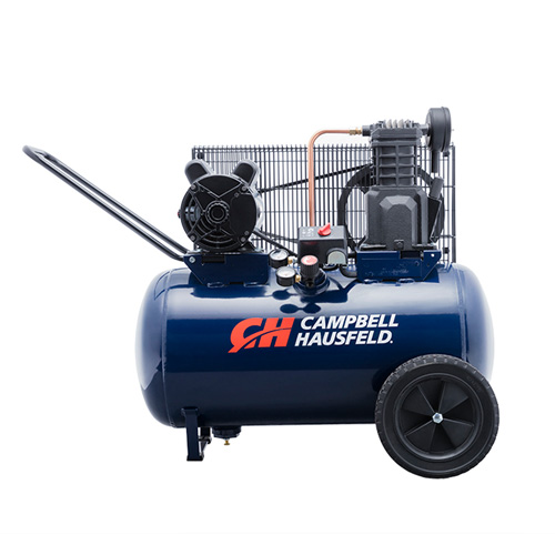 Air Compressor, 20-Gallon Horizontal Portable Single-Stage 5.5CFM 2HP 120/240V 1PH (VT6290)