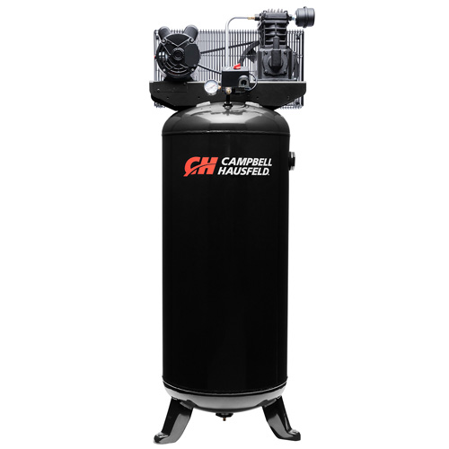 Air Compressor, 60-Gallon Vertical Single-Stage 10.2CFM 3.7HP 208-230V 1PH (VT6395)